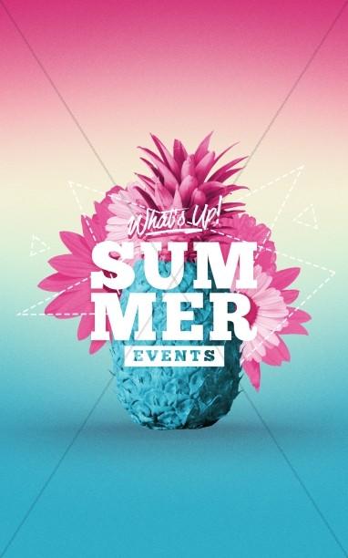 Summer Church Events Bulletin Cover