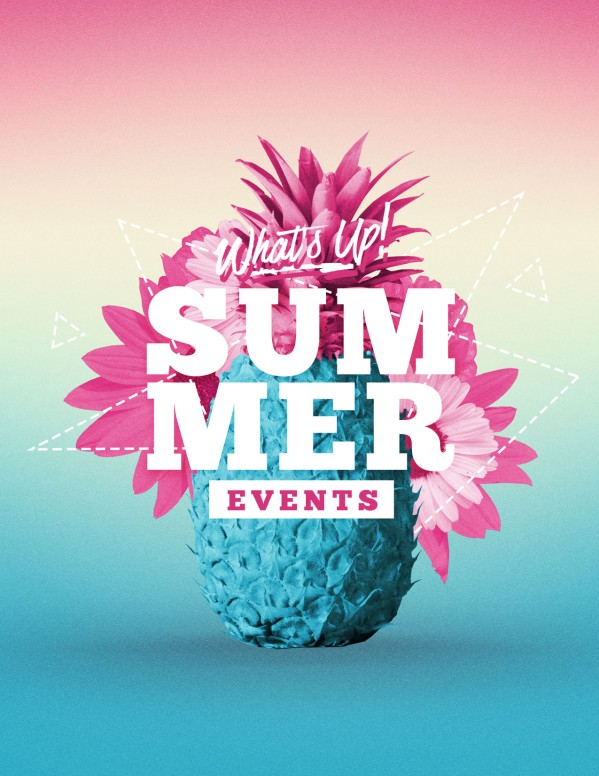 Summer Church Events Flyer Template