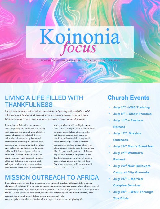 Limitless Sermon Series Church Newsletter Template