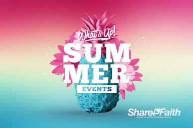 Summer Church Events Service Bumper Video