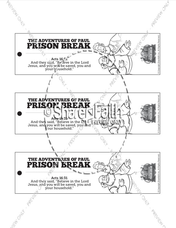 Acts 16 Prison Break Bible Bookmarks