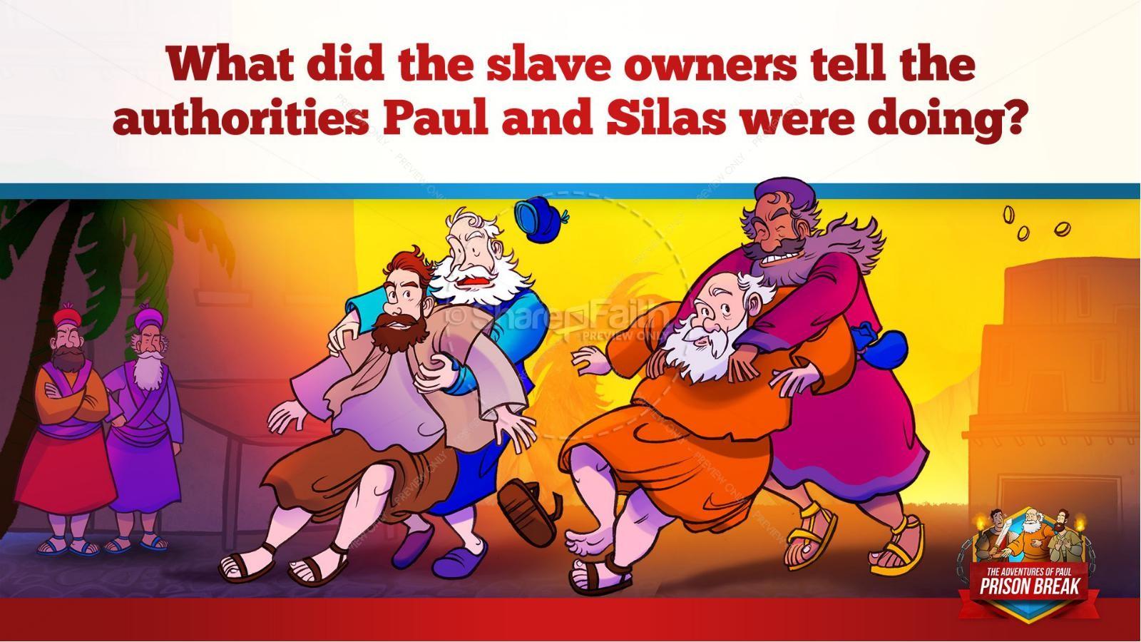 Acts 16 Prison Break Kids Bible Story | slide 15