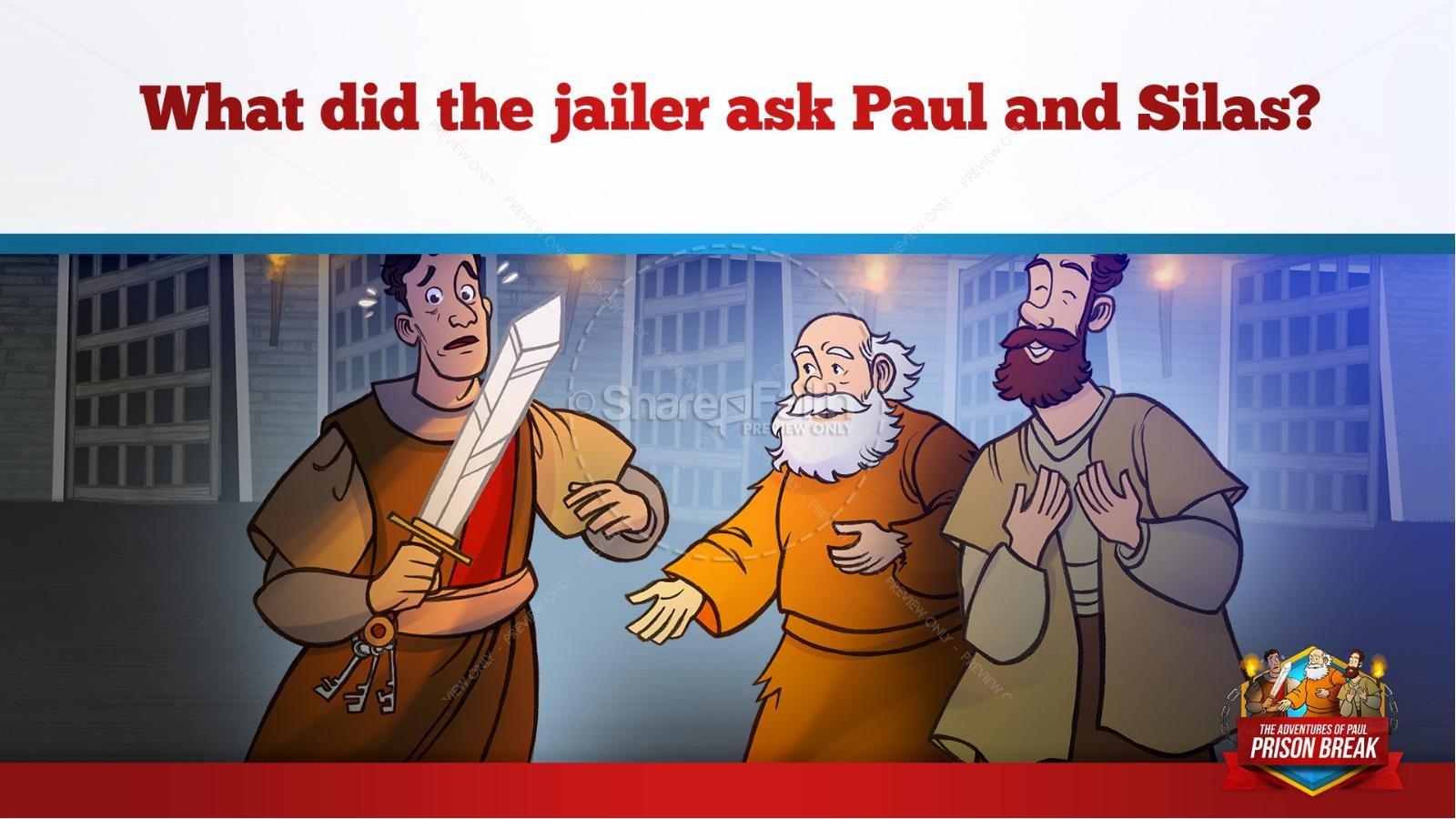 Acts 16 Prison Break Kids Bible Story | slide 31