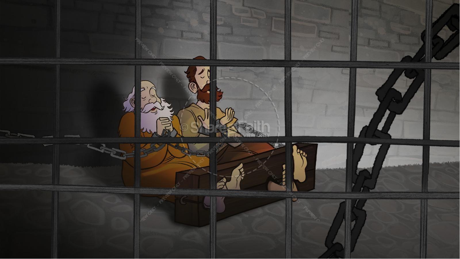 Acts 16 Prison Break Kids Bible Story | slide 5