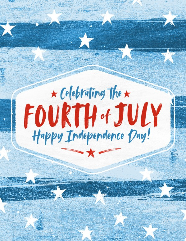 Fourth Of July Church Flyer Template