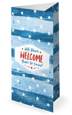 Fourth Of July Church Trifold Bulletin