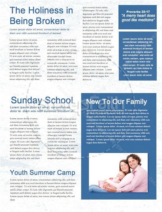 Fourth Of July Church Newsletter Template