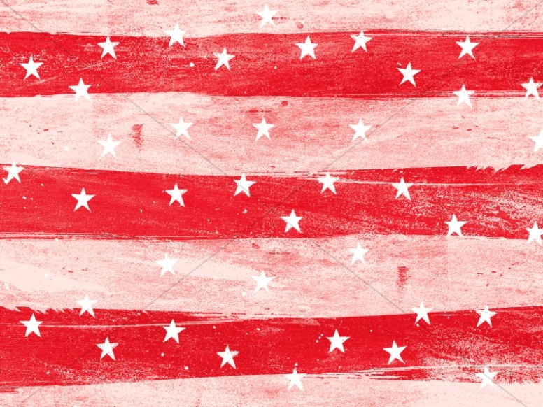 Fourth Of July Red Church Worship Background