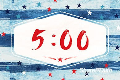 Fourth Of July Church Countdown Timer