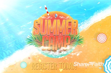 Church Summer Camp Beach Intro Video Loop