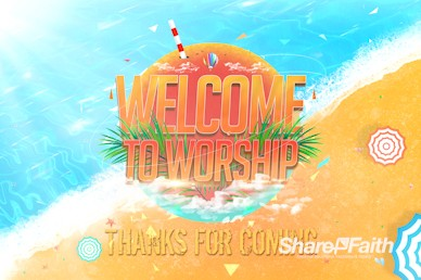 Church Summer Camp Beach Welcome Video Loop