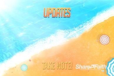Church Summer Camp Beach Announcements Video Loop