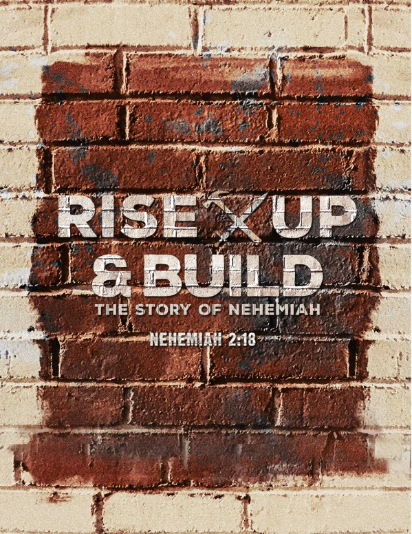 Rise Up And Build Church Flyer Template