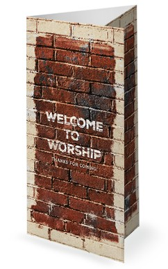 Rise Up And Build Church Trifold Bulletin Cover