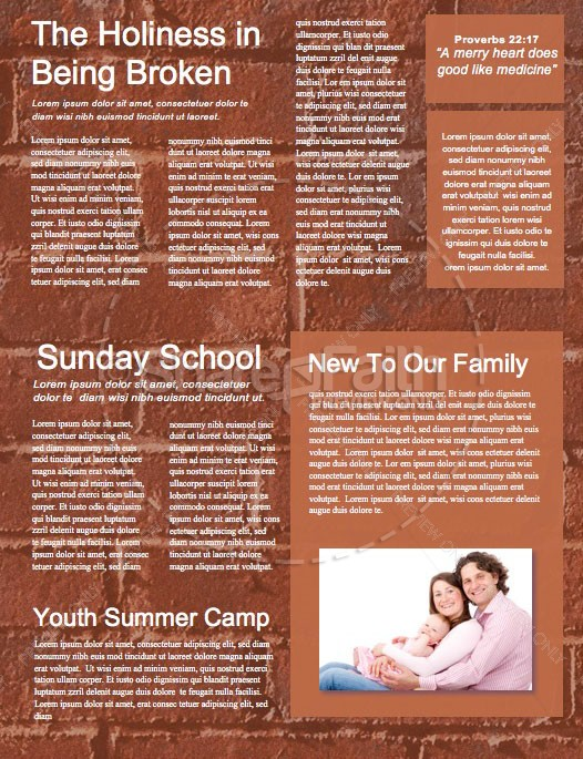 Rise Up And Build Church Newsletter Template | page 2