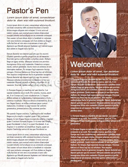 Rise Up And Build Church Newsletter Template   page 3