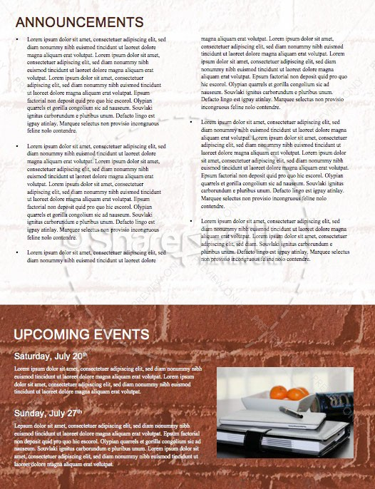 Rise Up And Build Church Newsletter Template | page 4