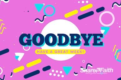Vacation Bible School Goodbye Motion Loop