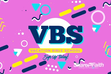 Vacation Bible School Church Motion Loop