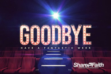 At The Movies Church Goodbye Motion Graphic