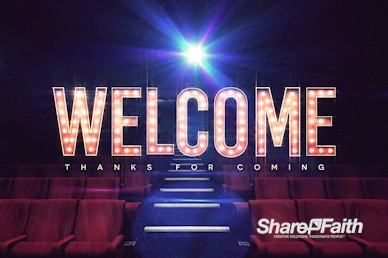 At The Movies Church Welcome Motion Graphic