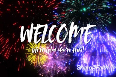 Fourth Of July Fireworks Welcome Motion Graphic
