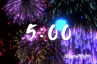 Fourth Of July Fireworks Countdown Video