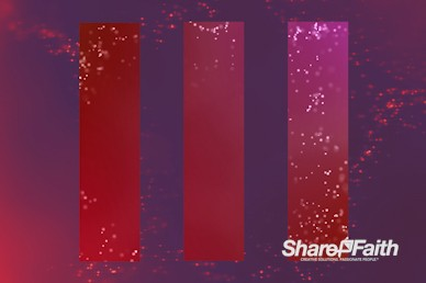 Shimmering Red Particles Worship Motion Background