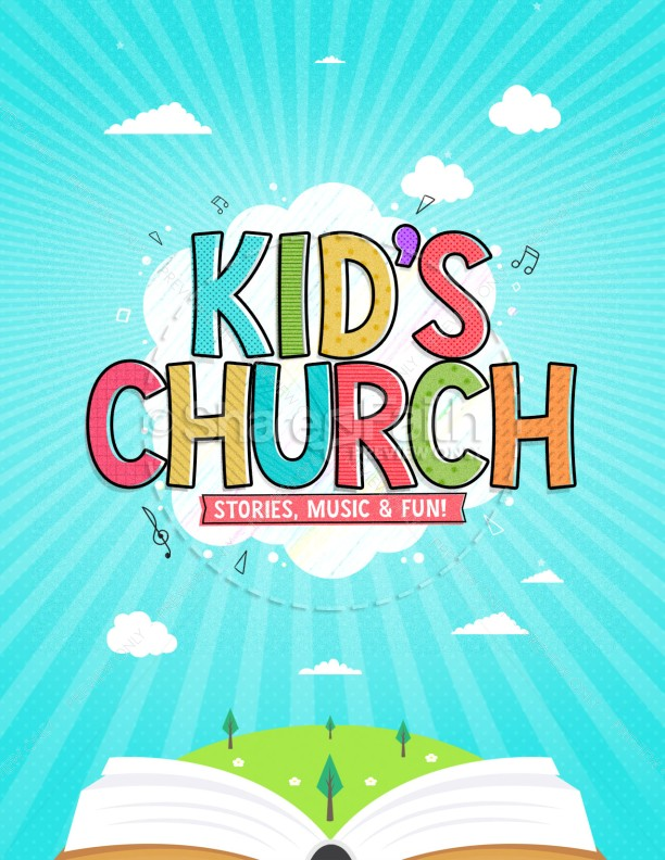 Kid's Church Service Flyer Template
