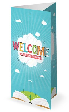 Kid's Church Service Trifold Bulletin