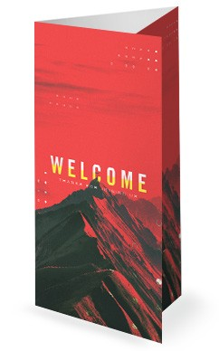 Vision Sunday Red Mountains Church Trifold Bulletin