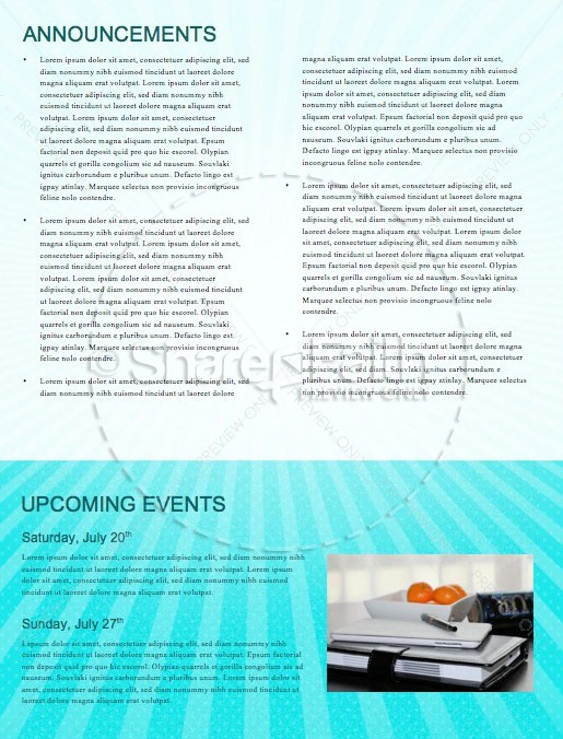 Kid's Church Service Newsletter Template | page 4