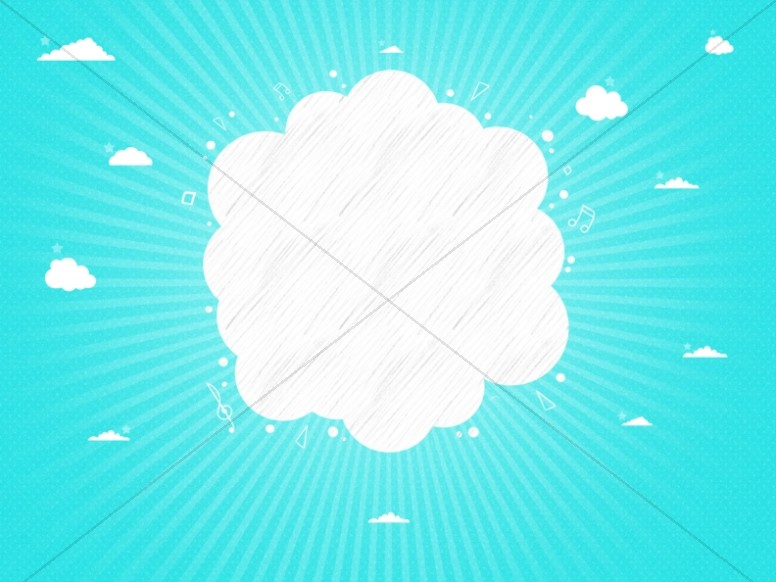 Kid's Church Service Cloud Worship Background