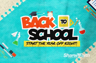 Back To School Kids Church Motion Graphic