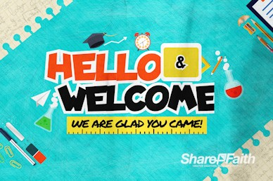 Back To School Kids Church Welcome Motion Graphic