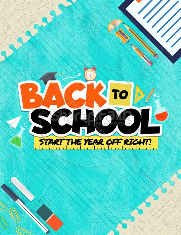 Back To School Kids Church Flyer Template