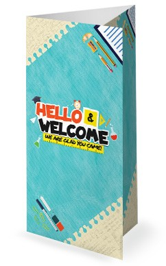 Back To School Kids Church Trifold Bulletin Cover