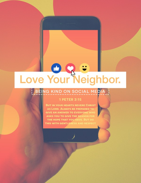 Love Your Neighbor Social Media Flyer Template