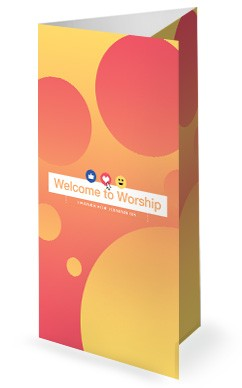 Love Your Neighbor Social Media Church Trifold Bulletin