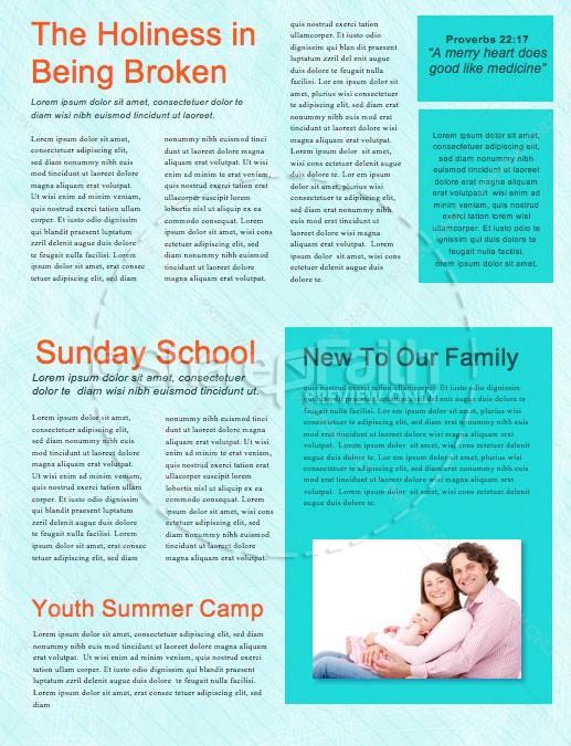 Back To School Kids Church Newsletter Template