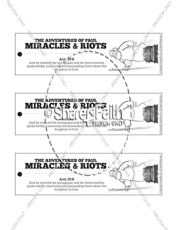 Acts 19 Miracles & Riots Bible Bookmarks