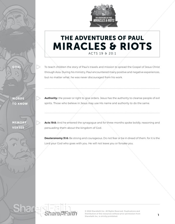 Acts 19 Miracles & Riots Curriculum