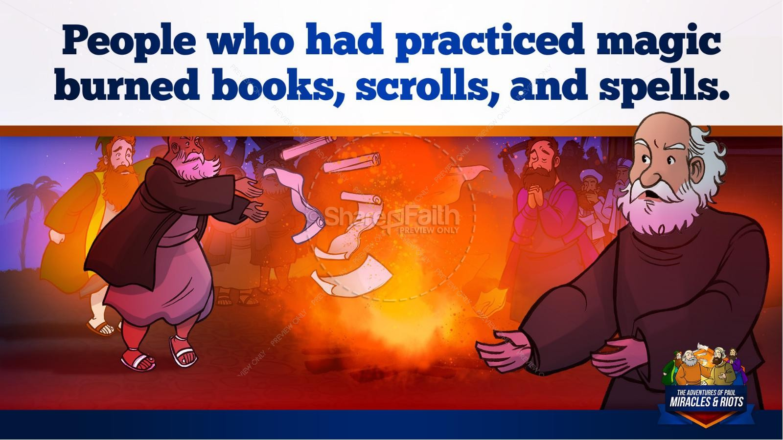 Acts 19 Miracles & Riots Kids Bible Story | slide 24