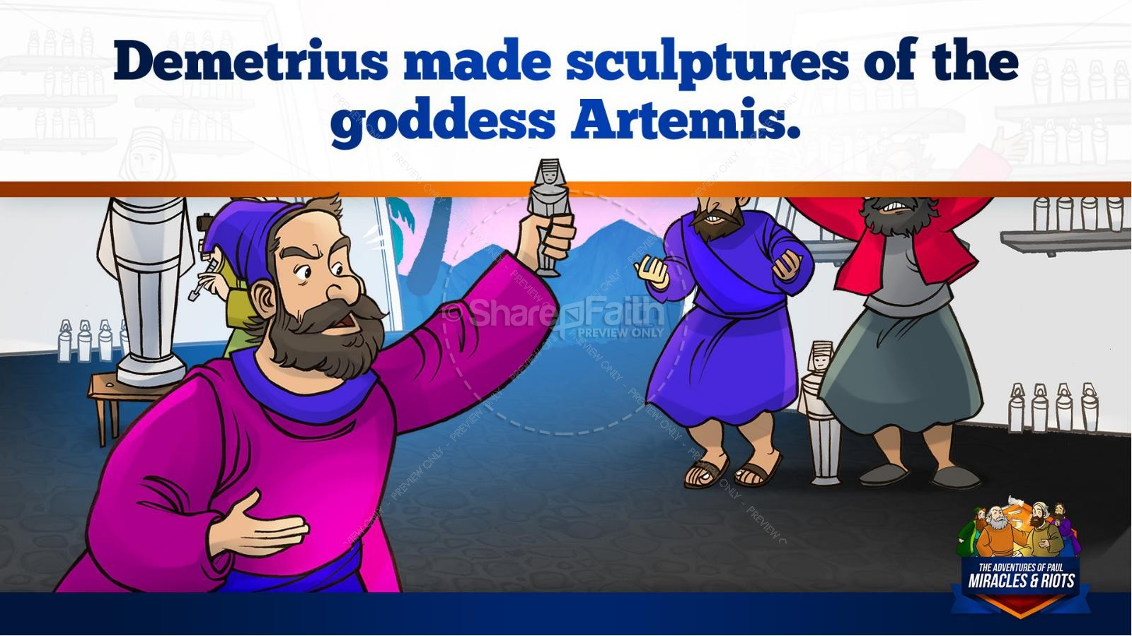 Acts 19 Miracles & Riots Kids Bible Story | slide 28