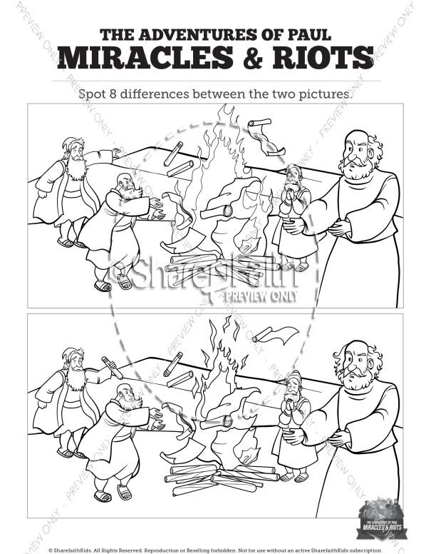 Acts 19 Miracles & Riots Spot the Differences