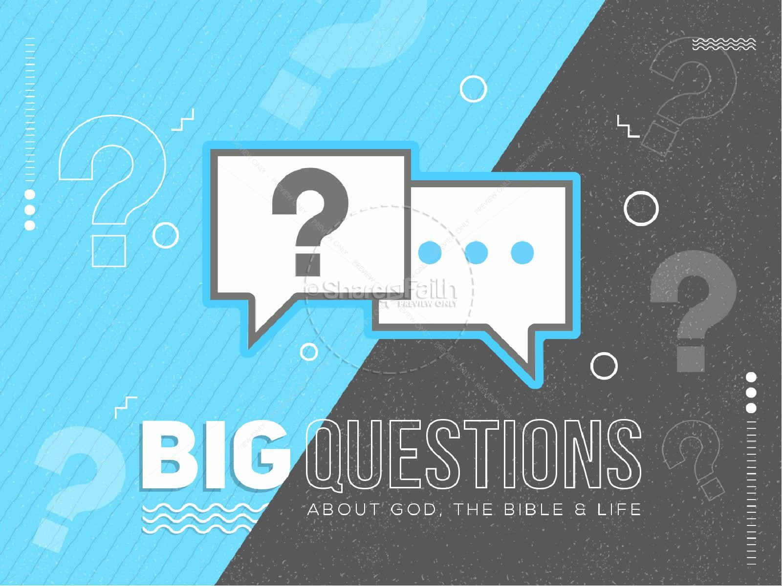 Big Questions Sermon PowerPoint