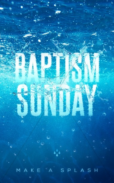 Baptism Sunday Church Bulletin