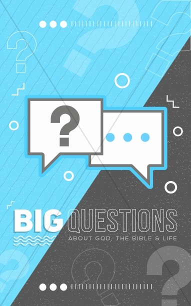 Big Questions Church Bulletin Cover