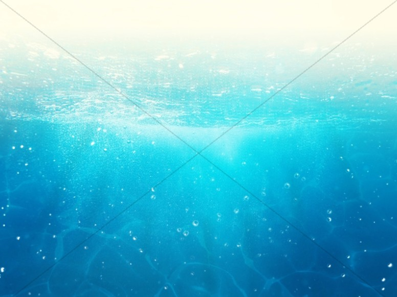 Sparkling Blue Ocean Water Worship Background