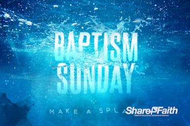 Baptism Sunday Church Service Motion Graphic